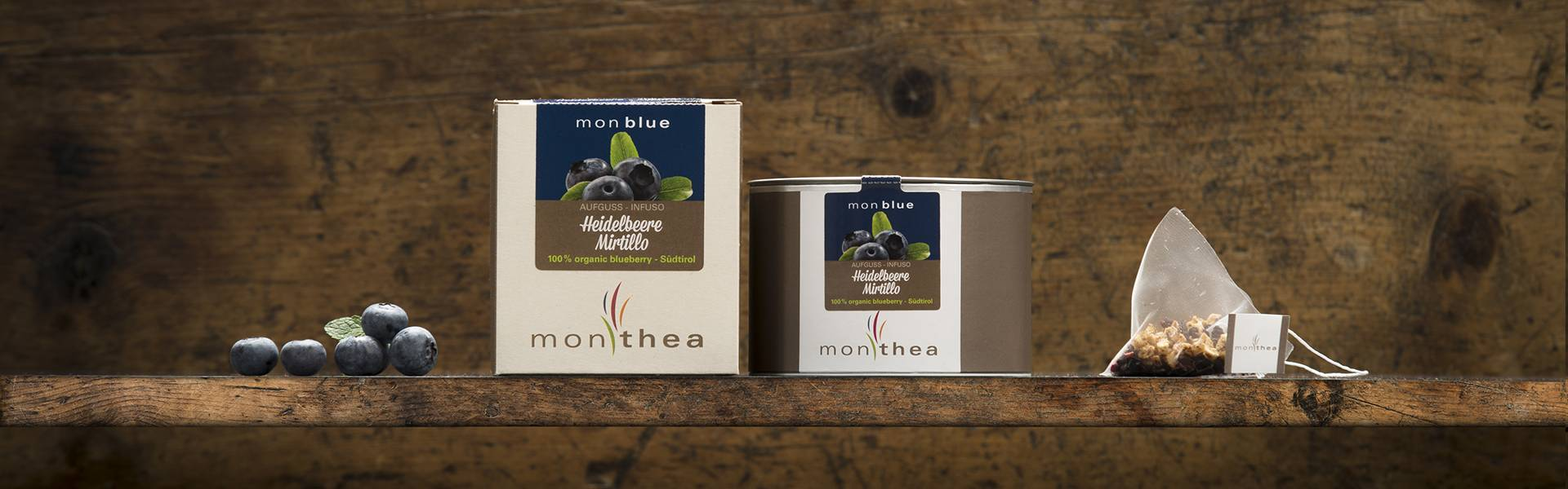 Organic blueberry tea monblue