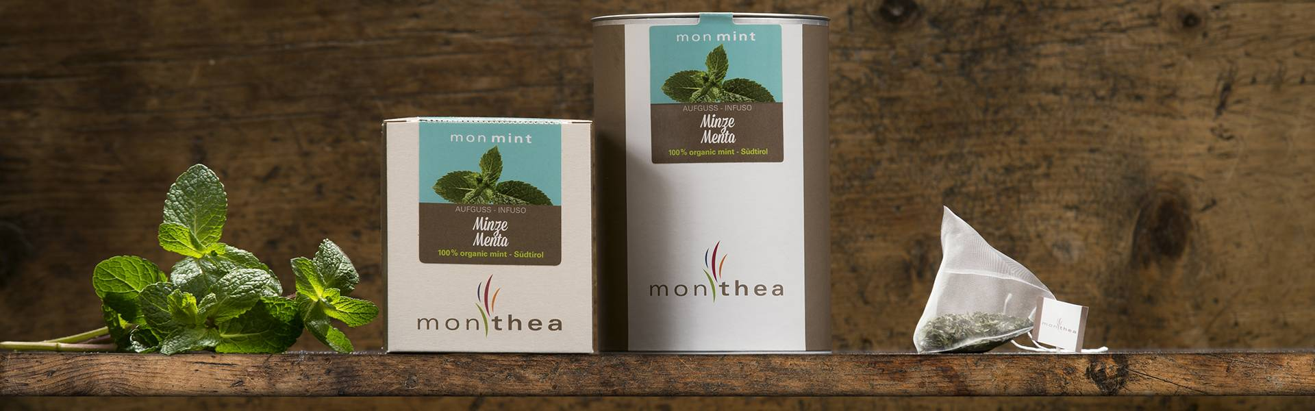 Organic mint tea monmint