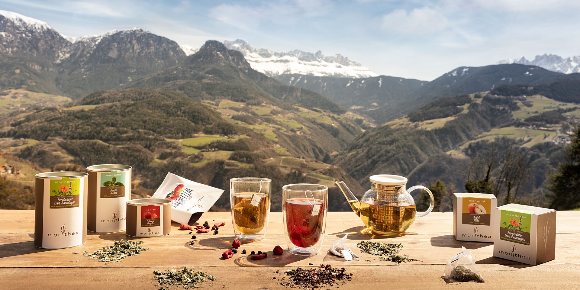 Monthea: Organic Tea of organic and locally grown fruit and herbs from South Tyrol